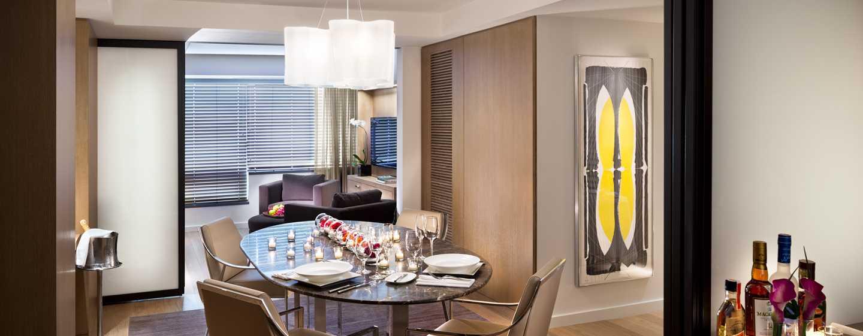 Hotel Conrad New York, Stati Uniti d'America - Soggiorno e sala da pranzo della Suite Conrad