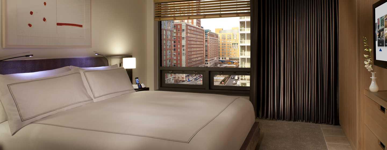 Hotel Conrad New York, Stati Uniti d'America - Camera da letto della Suite Deluxe