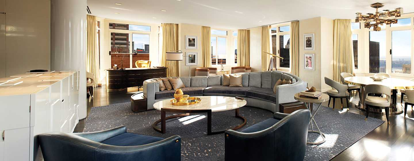 The London NYC, Stati Uniti d'America - Zona soggiorno della Suite London Penthouse