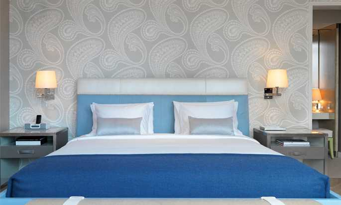 The London NYC, Stati Uniti d'America - Camera da letto della Suite London Sky