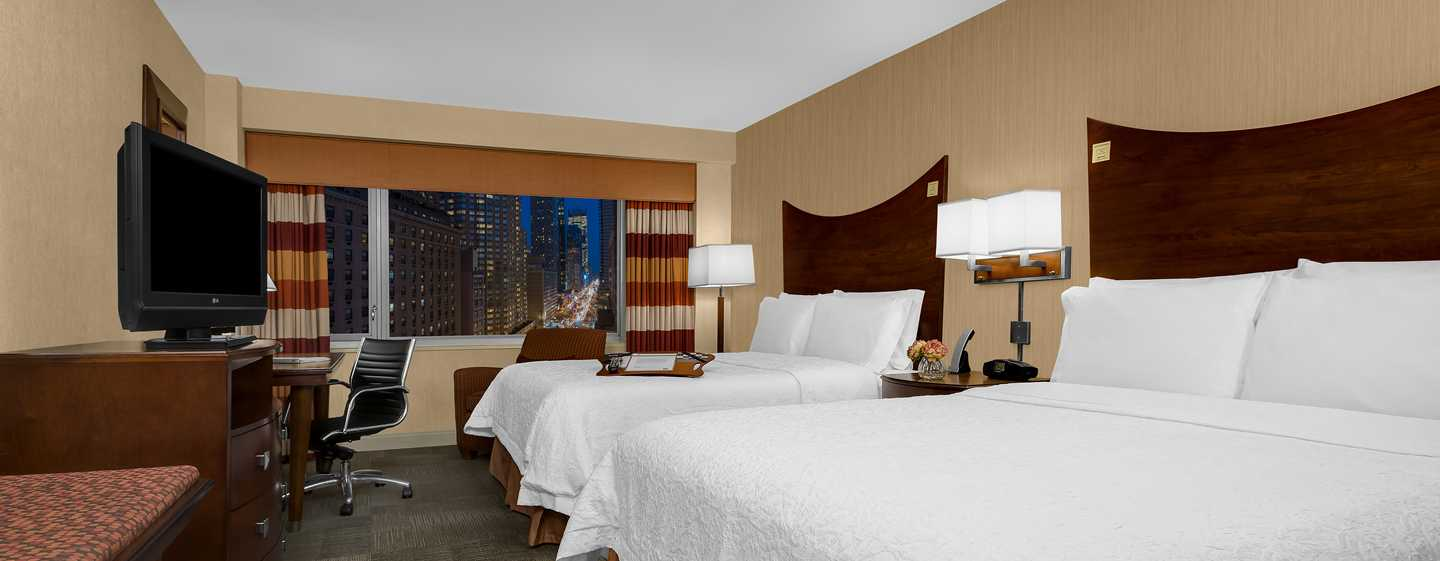 Hotel Hampton Inn Manhattan-Times Square North, New York, Stati Uniti d'America - Camera con due letti queen size