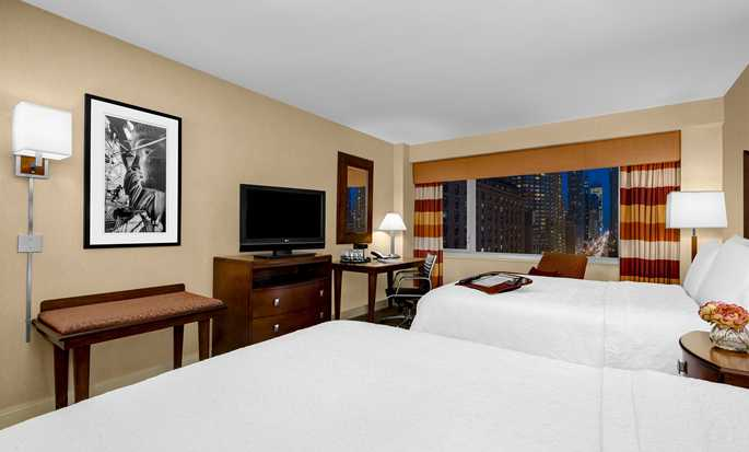 Hotel Hampton Inn Manhattan-Times Square North, Stati Uniti d'America - Camera con due letti queen size