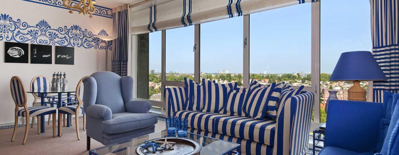 Hilton Amsterdam, Paesi Bassi - Suite Neptune con camera da letto