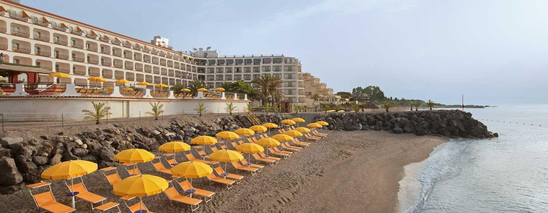 Hotel Hilton Giardini Naxos, Sicilia, Italia - Esterno spiaggia