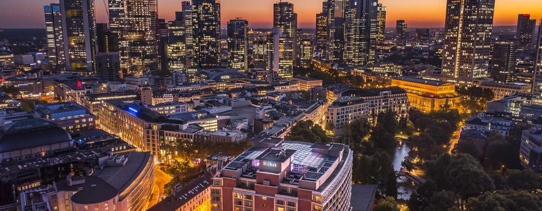 Hotel Hilton Frankfurt City Centre, Germania - Vista sullo skyline