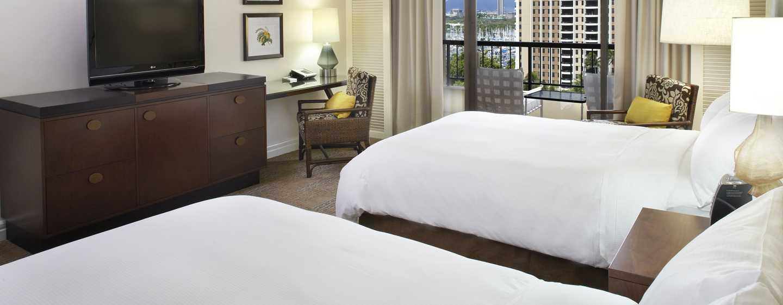 Hotel Hilton Hawaiian Village Waikiki Beach Resort, Stati Uniti d'America - Camera Rainbow fronte oceano con due letti matrimoniali