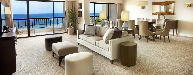 Hotel Hilton Hawaiian Village Waikiki Beach Resort, Stati Uniti d'America - Zona soggiorno della suite