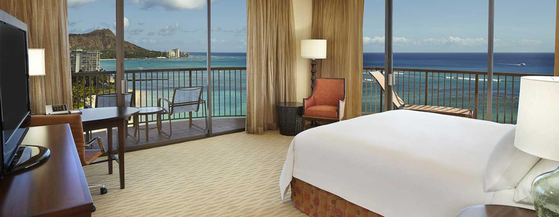 Hotel Hilton Hawaiian Village Waikiki Beach Resort, Stati Uniti d'America - Camera d'angolo fronte oceano con letto king size
