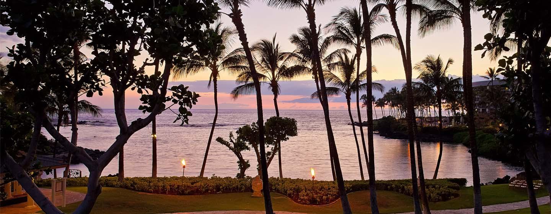 Hotel Hilton Waikoloa Village, Hawaii - Sede per eventi all'aperto sullo sfondo della spiaggia