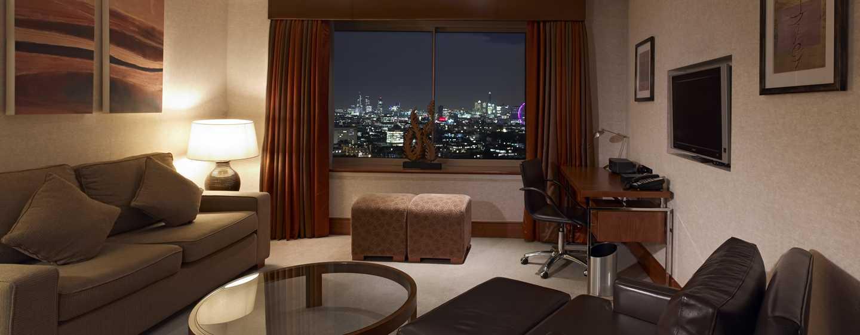 Hotel London Hilton on Park Lane, Regno Unito - Lounge della Suite Boutique