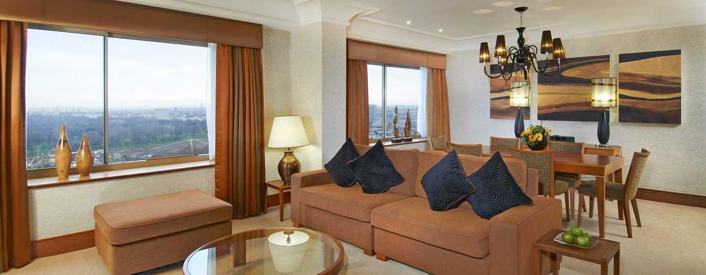Hotel London Hilton on Park Lane, Regno Unito - Camera da letto della Suite Cosmopolitan