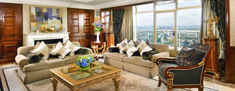 Hotel London Hilton on Park Lane, Regno Unito - Zona soggiorno della Suite Presidential