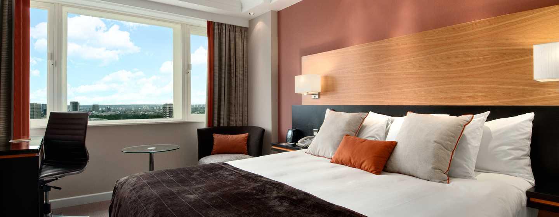 Hotel Hilton London Metropole, Regno Unito - Camera Deluxe Hilton con letto king size