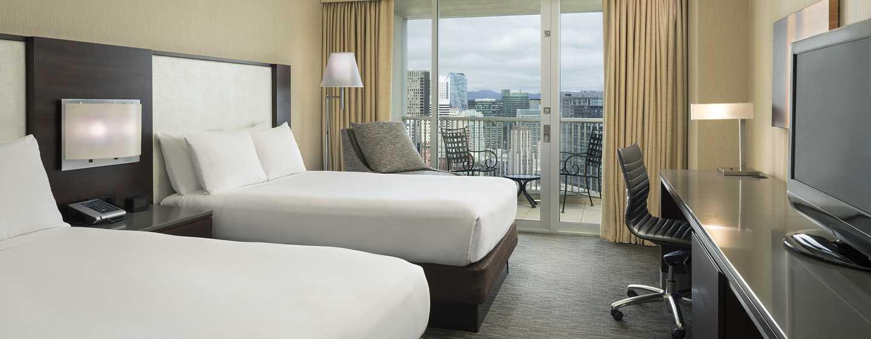 Hotel Hilton San Francisco Union Square, California, Stati Uniti d'America - Camera con due letti matrimoniali