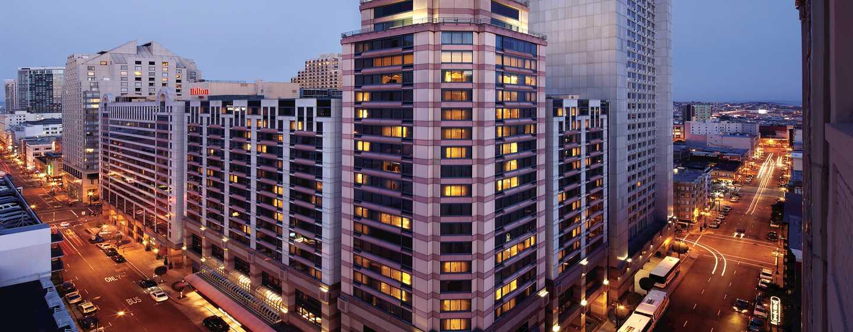 Hotel Hilton San Francisco Union Square, California, Stati Uniti d'America - Ubicazione su Union Square