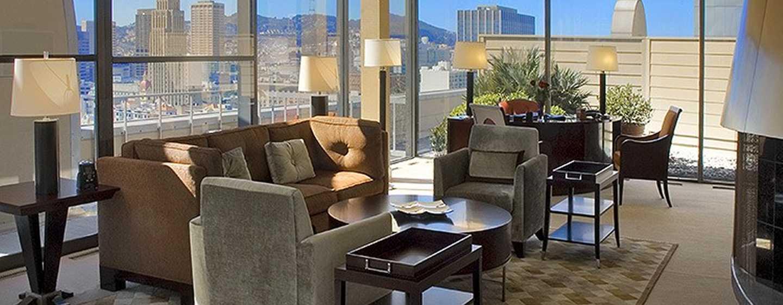 Hotel Hilton San Francisco Union Square, California, Stati Uniti d'America - Solarium della Suite Imperial
