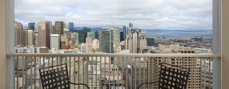 Hotel Hilton San Francisco Union Square, California, Stati Uniti d'America - Vista sulla baia e sullo skyline