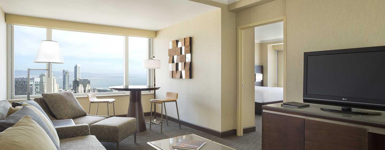 Hotel Hilton San Francisco Union Square, California, Stati Uniti d'America - Suite con una camera da letto