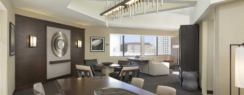 Hotel Hilton San Francisco Union Square, California, Stati Uniti d'America - Salotto nella Tower 2