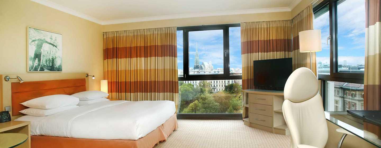 Hotel Hilton Vienna, Vienna, Austria - Camera d'angolo con letto king size