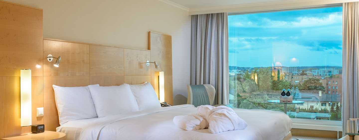 Hilton Zurich Airport, Svizzera - Camera Relaxation con letto king size