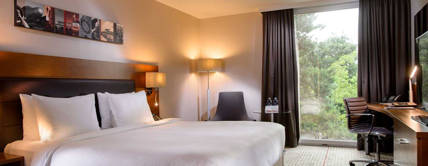 Hilton Zurich Airport, Svizzera - Camera Executive con letto queen size