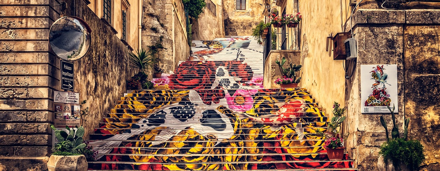 Street Art - Sicily Old Town, Noto, Itlay
