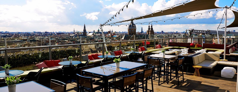 DoubleTree by Hilton Hotel Amsterdam Centraal Station, Paesi Bassi - Terrazza esterna dello Sky Lounge