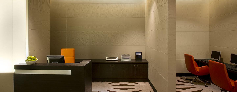 Hotel Hilton Capital Grand Abu Dhabi, EAU - Business center dell'hotel