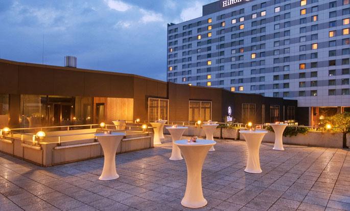 Hilton Dusseldorf, Germania - Terrazza