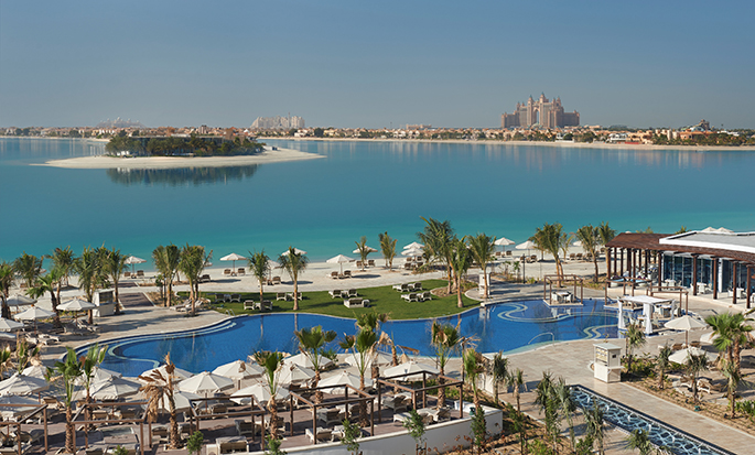 Waldorf Astoria Dubai Palm Jumeirah, Emirati Arabi Uniti - Vista sull'oceano e sulla piscina