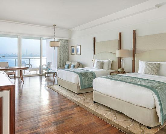 Hotel Waldorf Astoria Dubai Palm Jumeirah, EAU - Camera Deluxe con due letti queen size e vista mare