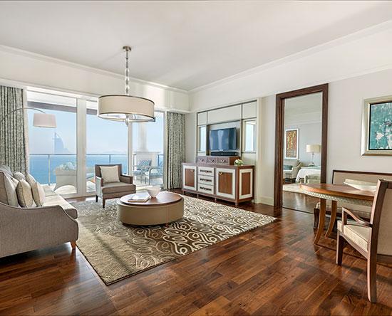 Hotel Waldorf Astoria Dubai Palm Jumeirah, EAU - Suite Deluxe con letto king size e vista mare
