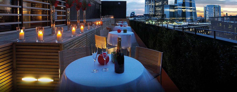 Hotel Hilton London Tower Bridge, Regno Unito - Terrazza con vista sulla città